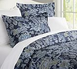 Reza Palampore Duvet Cover, Twin, Midnight Blue