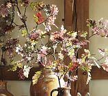 Faux Harvest Purple Oak Leaf Branch