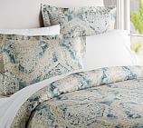 Rowena Medallion Duvet Cover, Twin, Blue