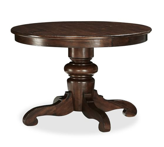 Tivoli Fixed Pedestal Dining Table, Tuscan Chestnut stain