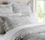 Pearson Snowflake Stripe Duvet Cover, Twin, Gray
