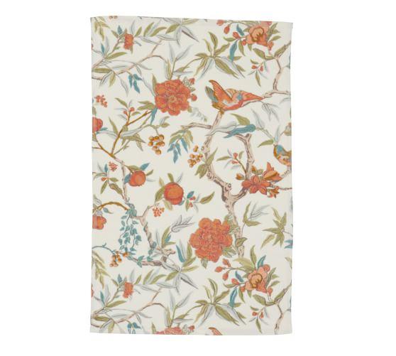 Zinnia Palampore Organic Cotton Hand Towel