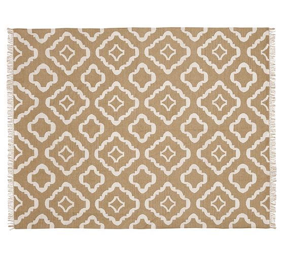 Lily Indoor/Outdoor Rug, 5 x 8', Neutral