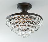 Callia Crystal Drop Semi-Flushmount Ceiling Fixture