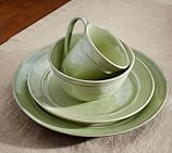 Cambria Dinnerware, 16-Piece Soup Bowl Set, Mint