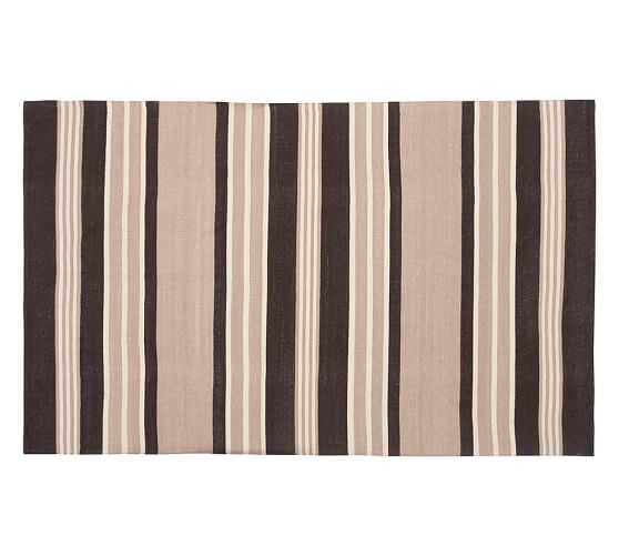 Lowe Stripe Indoor Outdoor Rug 4 X 6 Neutral Pottery Barn