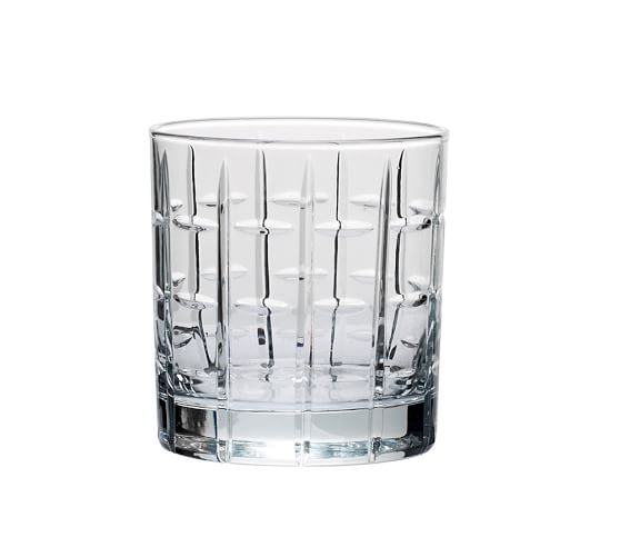 Library Hand-Cut Double Old-Fashioned Glass, Set of 6 - Clear