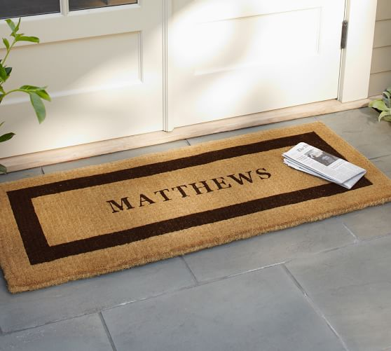 Personalized Extra-Large Doormat, 30 x 48