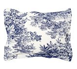 Matine Toile Sham, Standard, Twilight Blue
