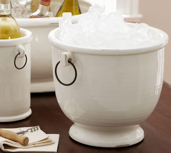 Rhodes Ceramic Ice Bucket