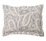 Finley Paisley Sham, Standard, Anthracite