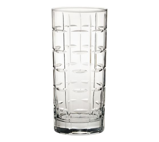 Library Hand-Cut Highball Glass, Set of 6, Clear
