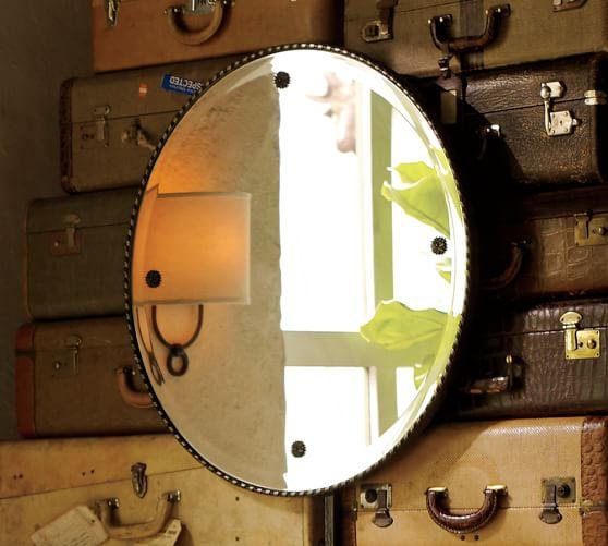 Rosette Mirror, Champagne Gilt