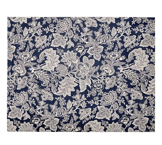 Layla Palampore Indoor/Outdoor Rug, 4x6', Blue | Pottery Barn