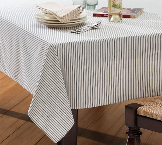 Ticking Stripe Table Runner Overlay, 64