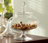 Voluminous Clear Glass Canister, Small
