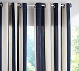 PB Classic Stripe Outdoor Canvas Grommet Drape, 50 x 84