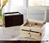 Andover Small Jewelry Box, Espresso