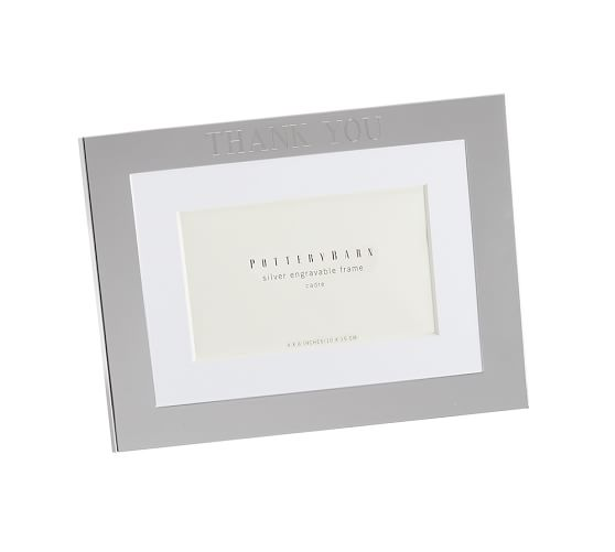 "Silver-Plated Engravable Picture Frame, 4 x 6"" with optional Horizontal Personalization"