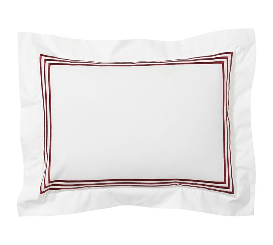 Grand Embroidered Boudoir Pillow Cover, 12 x 16