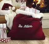 Santa Costume Velvet Toy Bag