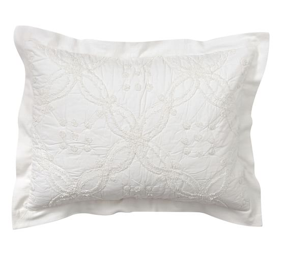 Candlewick Chenille Quilted Sham, Standard