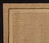 Color-Bound Sisal Rug Swatch, Chino
