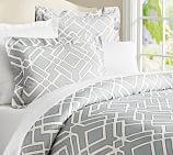 Shelby Geo Duvet Cover, Twin, Gray