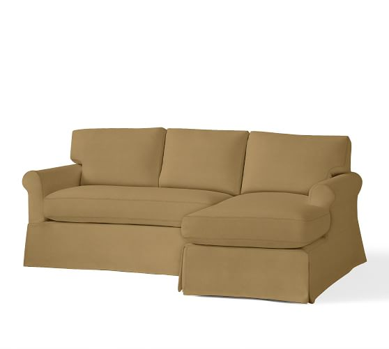 York Roll Arm Sectional Slipcovers
