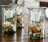 Recycled Glass Double Tier Candleholder