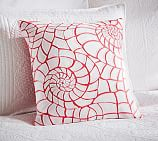 Coral Applique Embroidered Pillow Cover, 18