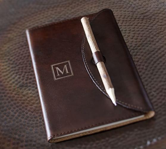 Saddle Leather Journal, Chocolate