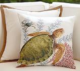 Playa Turtle Outdoor Pillow, 18