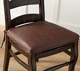 PB Classic Leather Dining Chair Cushion, Medium, Bourbon