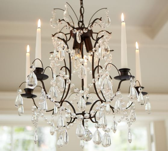 Candelabra Chandelier, Antique Bronze finish