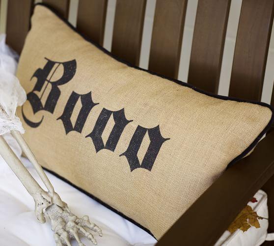 Boo Lumbar Pillow, 12 x 24