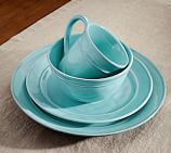 Cambria Dinnerware, 16-Piece Soup Bowl Set, Turquoise