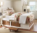 Stratton Bed with Baskets Bed & Dresser Set, Full/Queen, Pure White