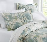 Vivian Ikat Duvet Cover, Twin, Blue