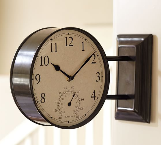 Side View Clock, Bronze finish