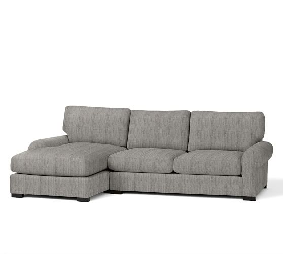 Turner roll arm upholstered sofa with chaise sectional for Albany sahara sectional sofa chaise