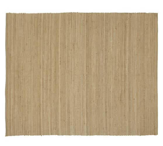 Riley Hand-Loomeded Jute Stripe Rug, 3x5', Natural