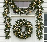 Outdoor Ornament Pine Garland, 5', Gold/Silver