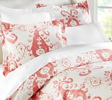 Mia Ikat Duvet Cover, Twin, Desert Rose