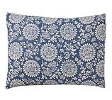 Calista Floral Sham, Standard, Blue
