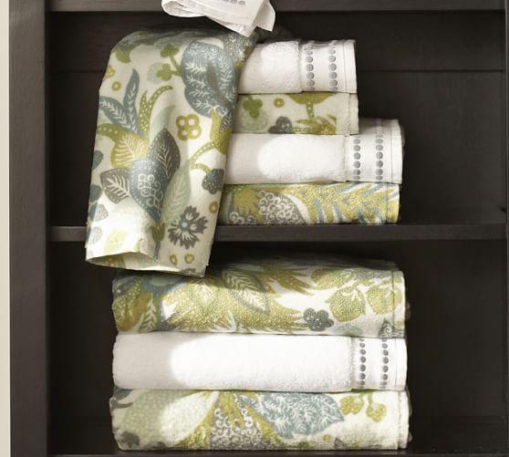 Juliana Floral Organic Cotton Bath Towel