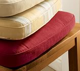 Box Armchair Cushion, Brushed Canvas, Cardinal Red
