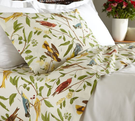 Spring Sparrow Sheet Set, Twin