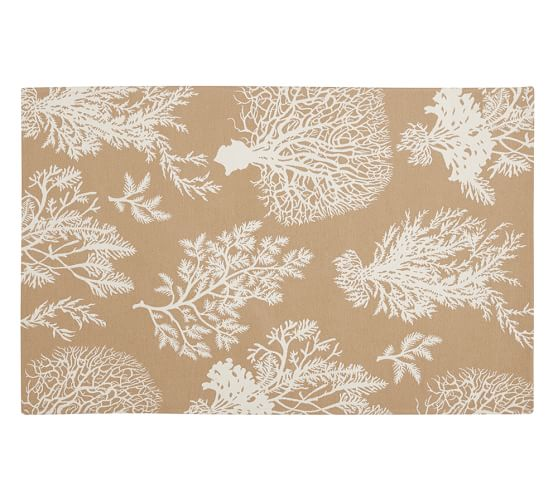 Coastal Indoor Outdoor Rug 3x5 Neutral