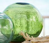 PB Found Glass Buoy, Medium Green